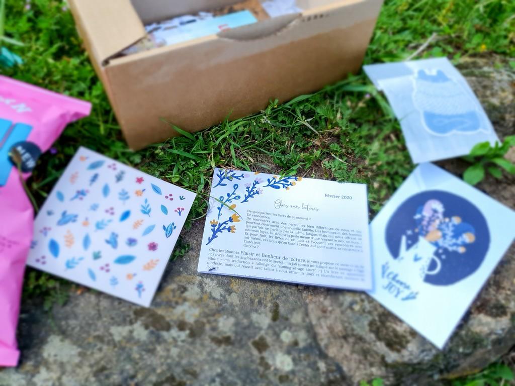 box découverte littéraire Exploratology