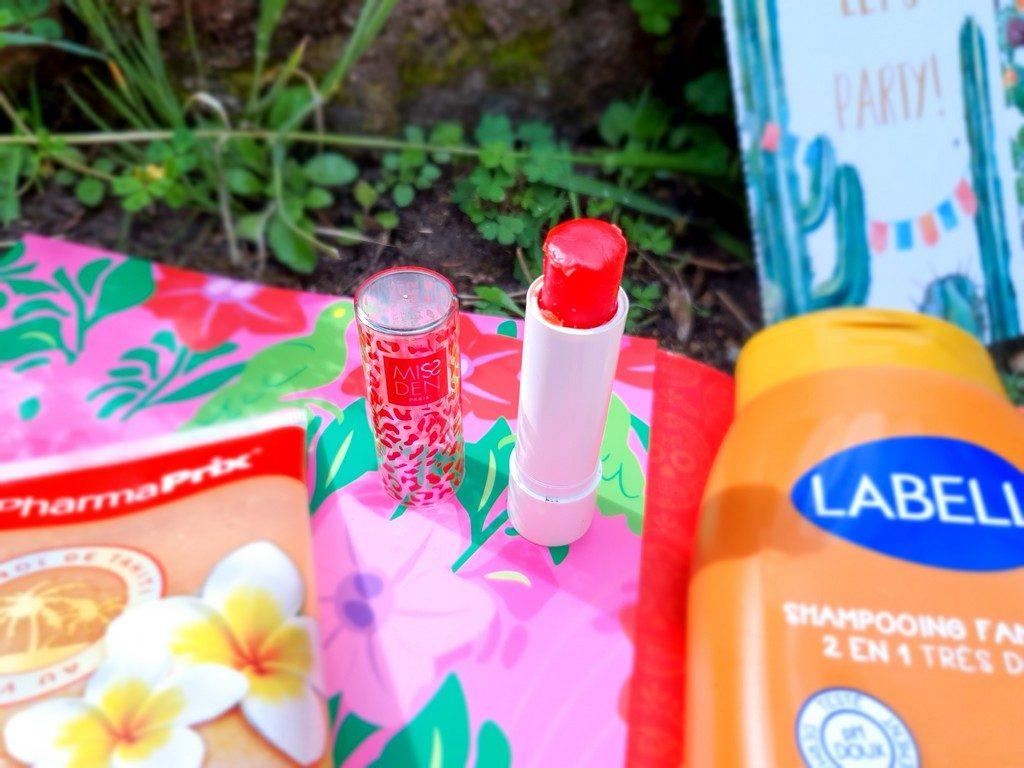 flop et top produits de beauté de grande surface : baume à lèvres Miss Den
