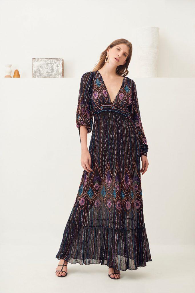 robe longue brodée Emilia Antik Batik