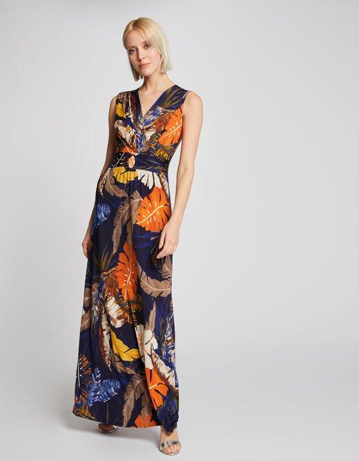 robe longue fluide imprimée Morgan