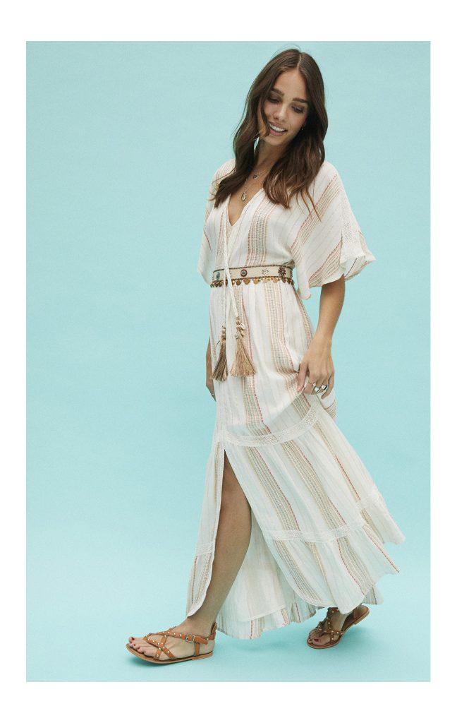 robe longue Louise white Amenapih