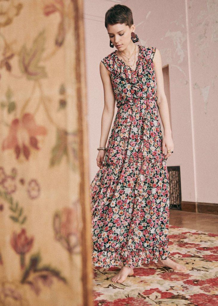 robes longues tendance été : robe Georgia Sézane