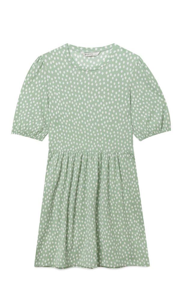 tendances shopping été 2020 : robe à pois Stradivarius
