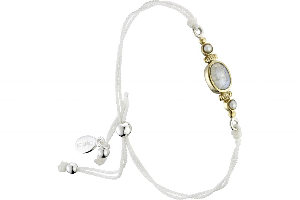 bracelet cordon perle de lune Canyon
