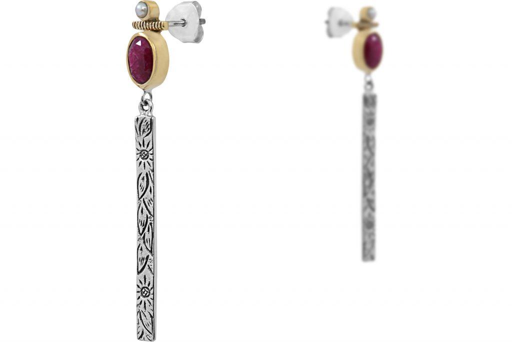 bijoux de l'été Canyon : boucles d'oreilles quartz
