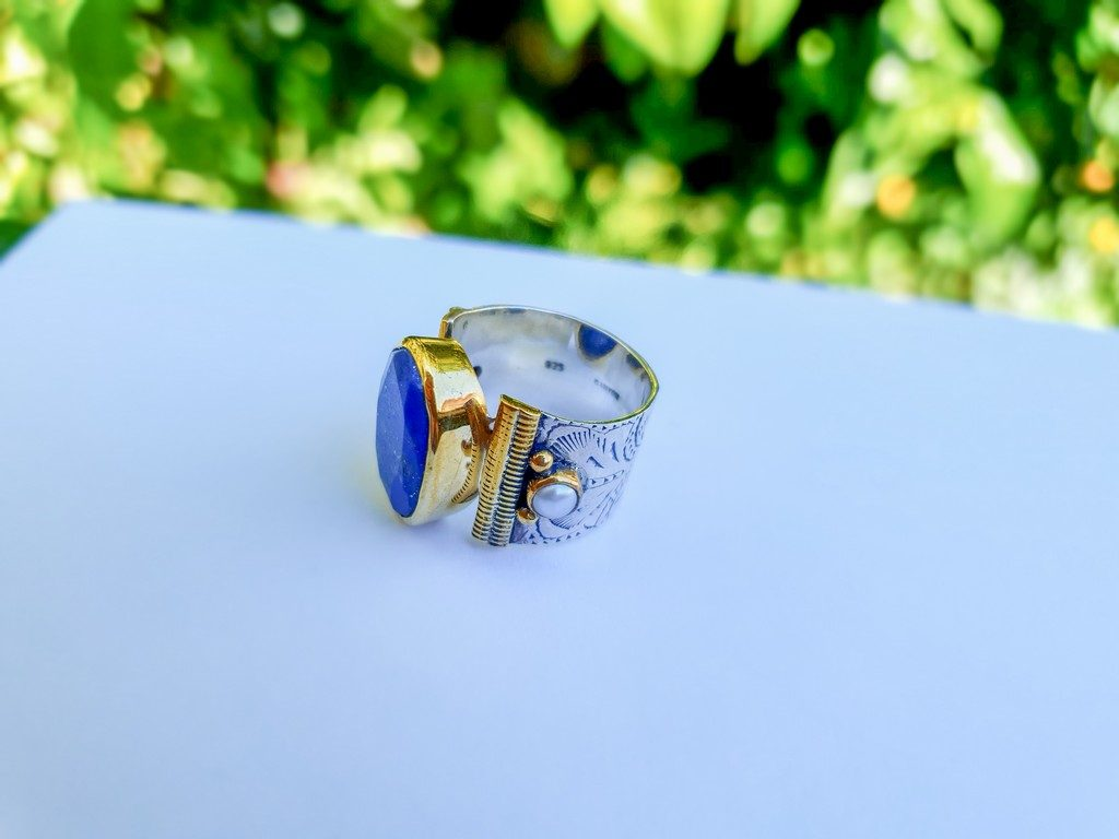 bijoux de l'été Canyon : bague anneau lapis lazuli Canyon
