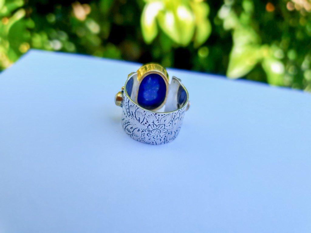 bague anneau Lapis Lazuli Canyon