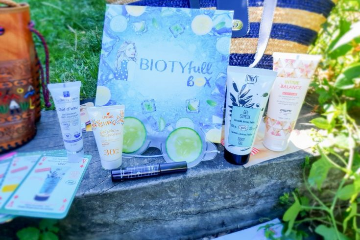 La box beauté bio Biotyfull Box juin 2020 La Gélifiée
