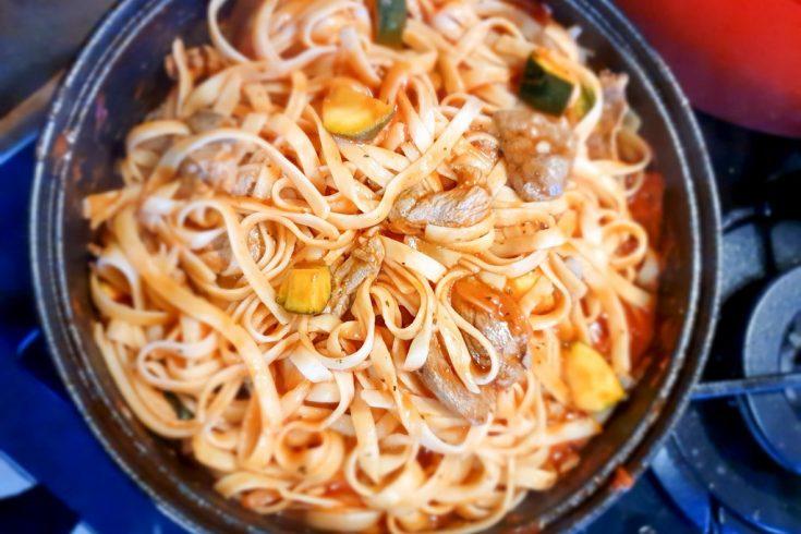recette Quitoque : tagliatelle à la canette et sauce tomate
