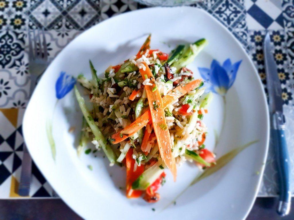 recette Quitoque : salade asiatique à l'huile de sésame et aux cacahuètes