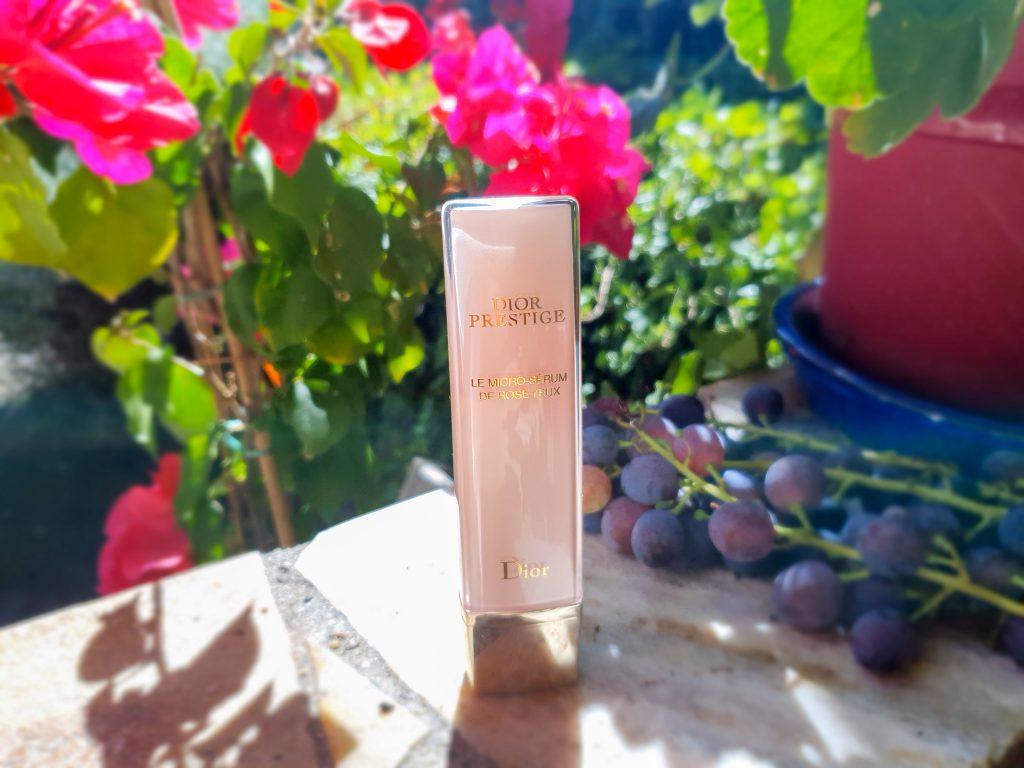 présentation, test et avis micro-sérum de rose yeux Dior Prestige