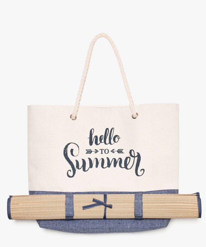 sac avec natte de plage