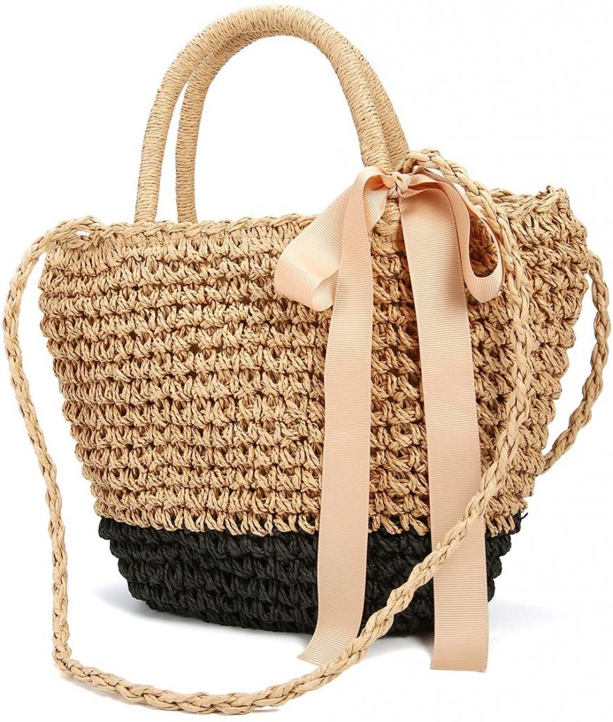 sac de plage forme panier