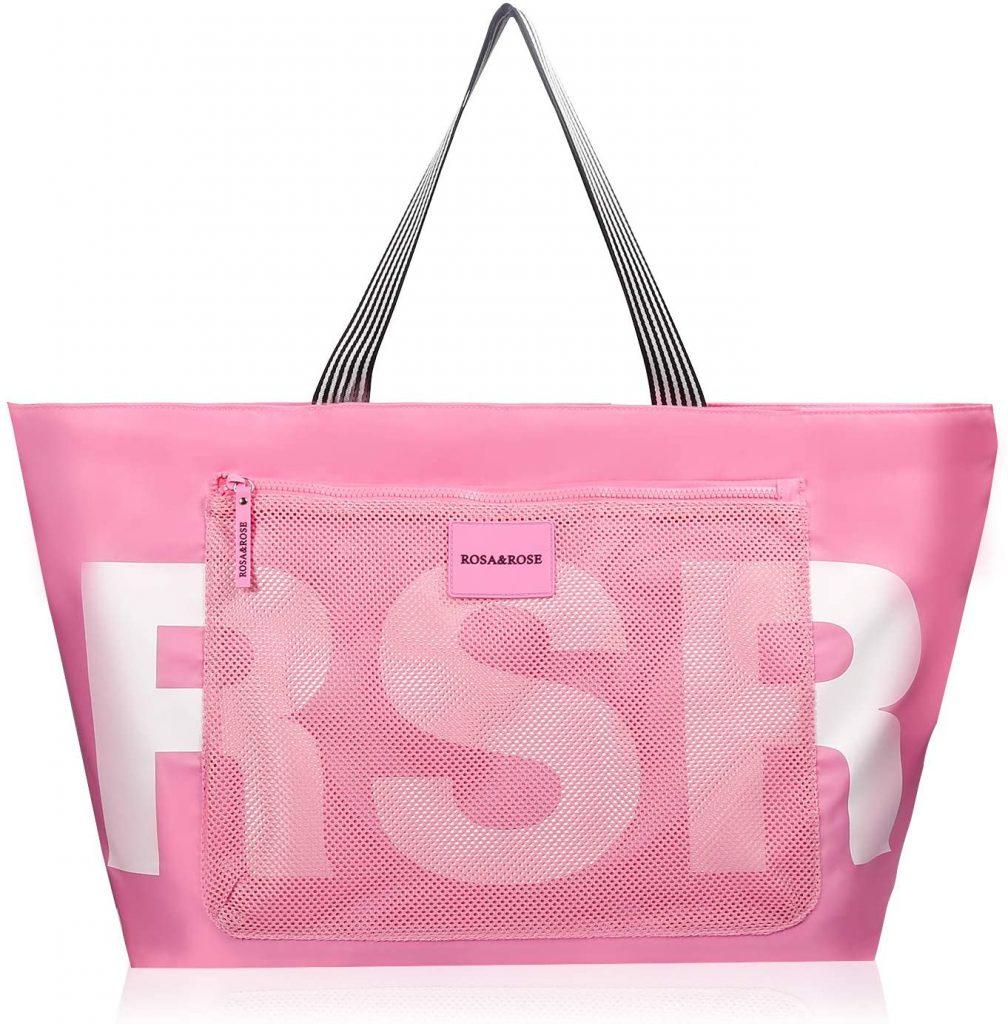 sac de plage rose