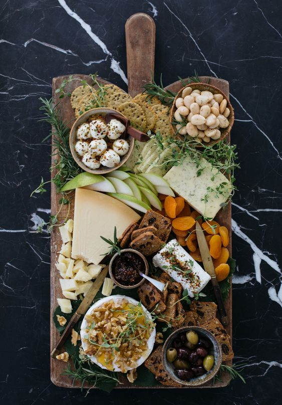 présentation plateau de fromage