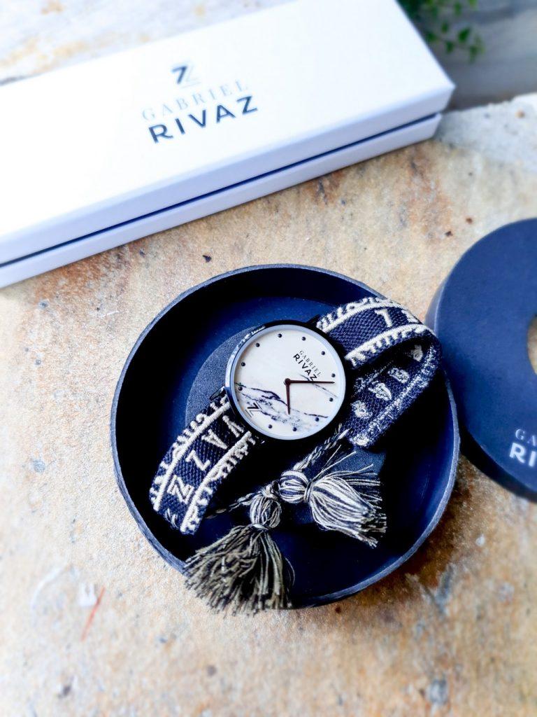 montre bracelet coton Gabriel Rivaz