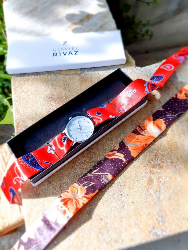 montre bracelet soie Gabriel Rivaz