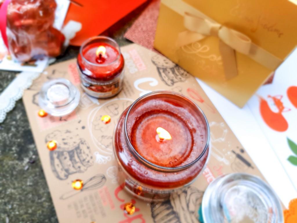 sélection senteurs d'automne : bougies Yankee Candle