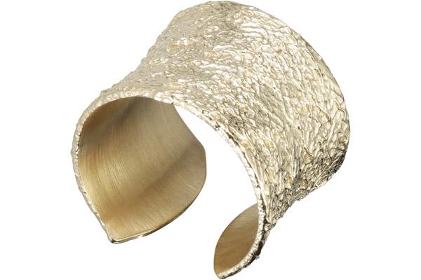 bague martelée dorée Zag Bijoux