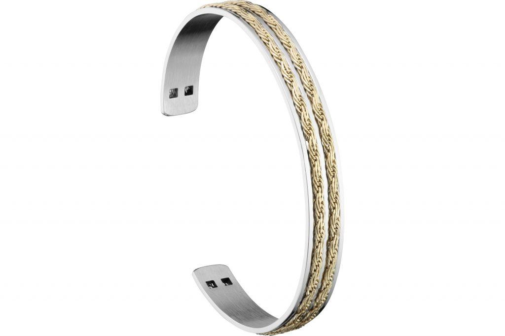 bracelet manchette deux fils Zag Bijoux
