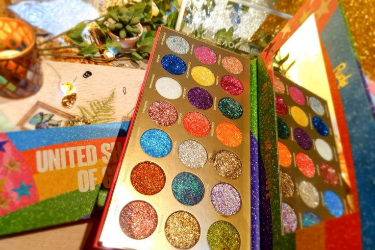 palette fards pailletés Rude Cosmetics