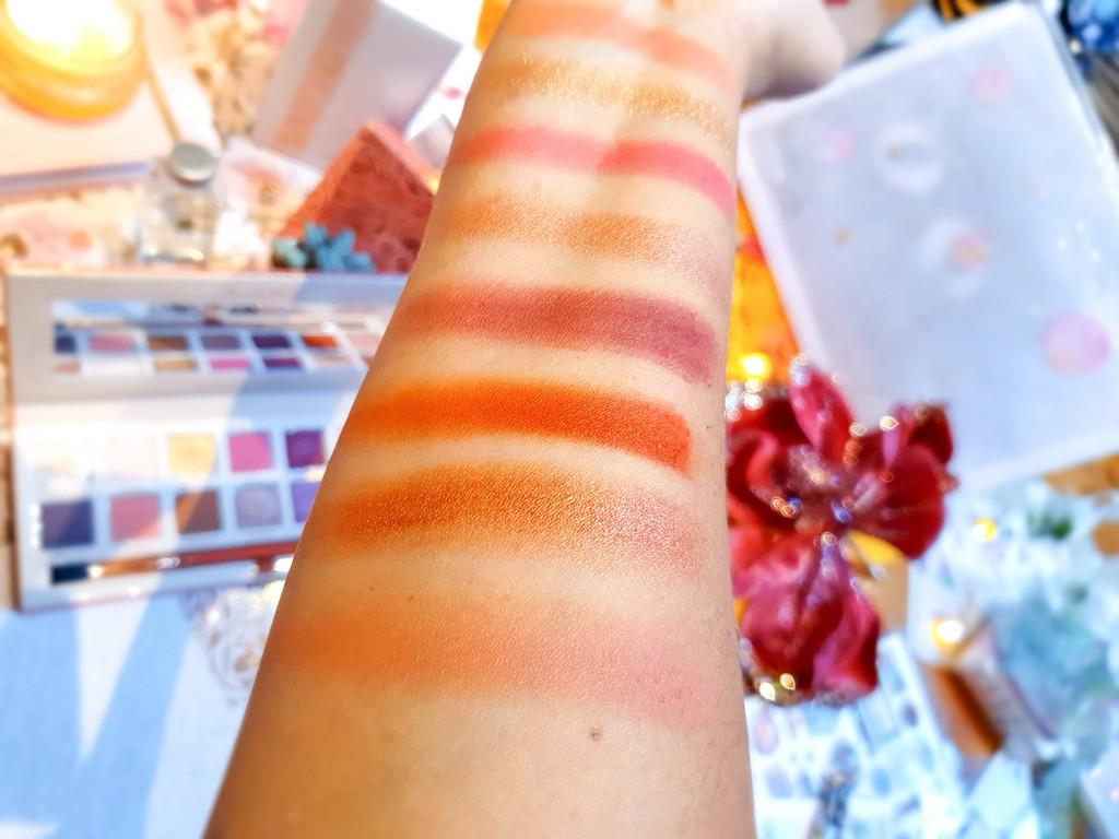 swatches palette Cor-de-Rosa Sigma Beauty