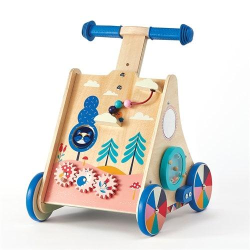 chariot de marche en bois multi-activités