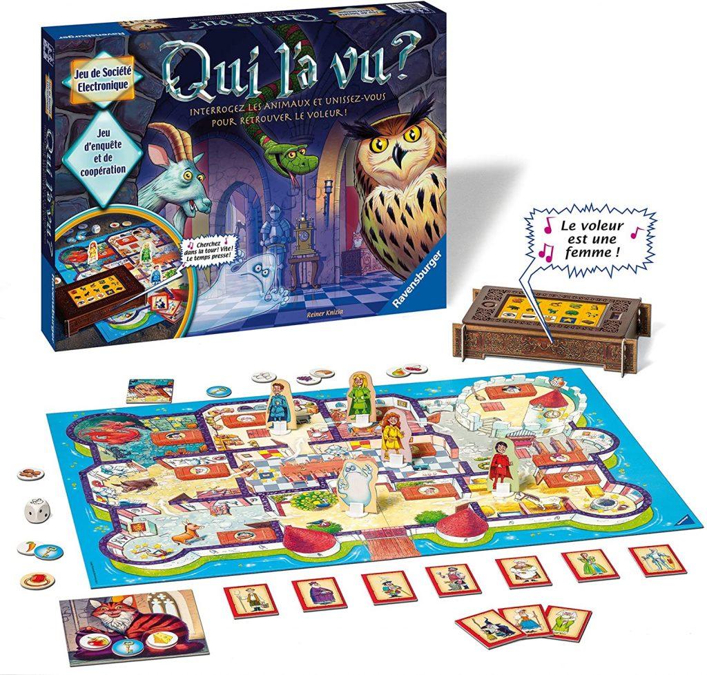 liste de jouets pour le Père Noël : jeu de société Qui l'a vu Ravensburger