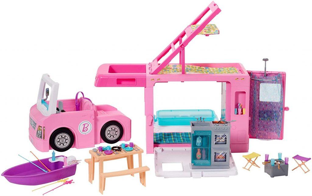 camping car 3 en 1 Barbie