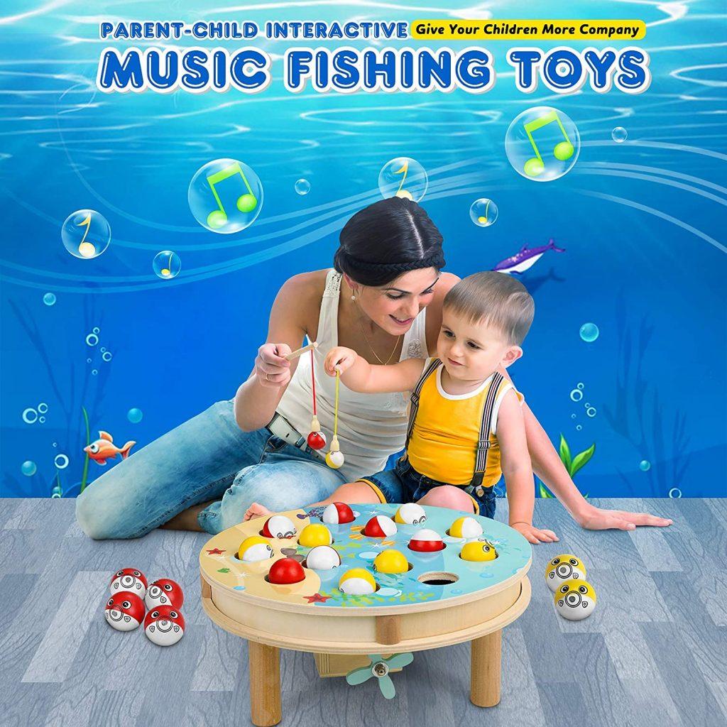 liste de jouets pour le Père Noël : jeu de pêche en bois