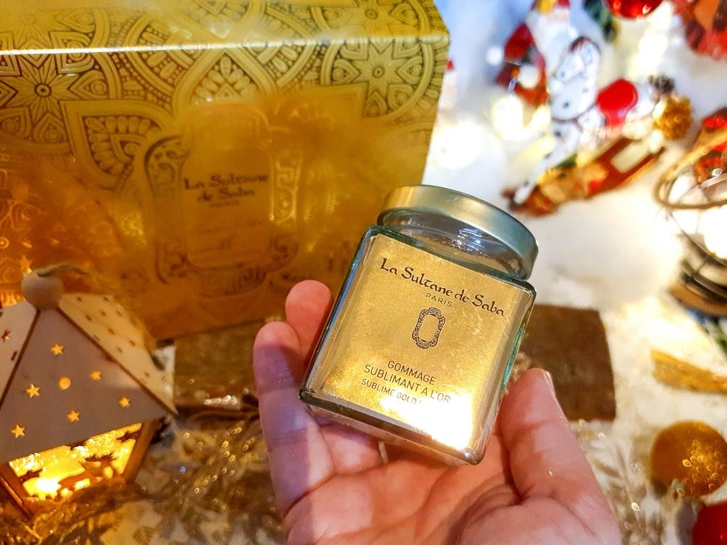 gommage sublimant à l'or La Sultane de Saba