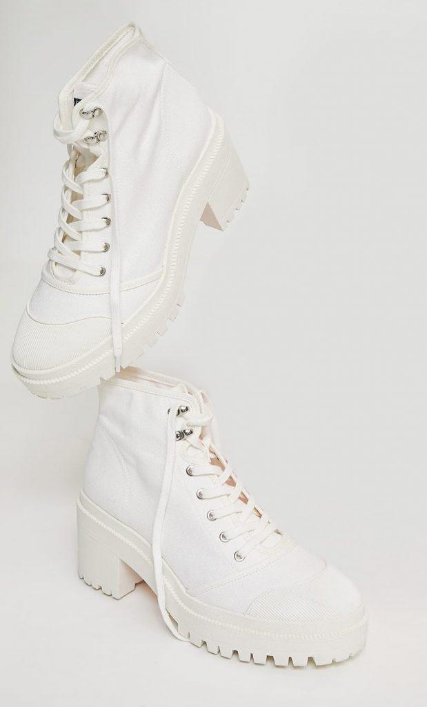 Tendance mode printemps été 2021 : les bottines en toile à talon