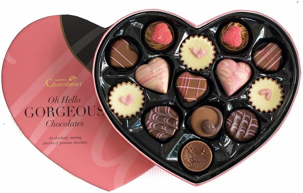 coffret chocolat coeur