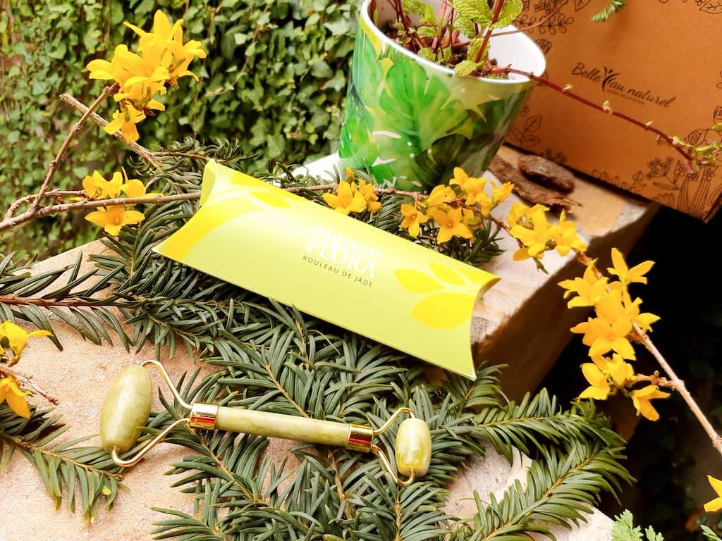 contenu et avis box beauté Belle au Naturel mars 2021 : rouleau de massage jade