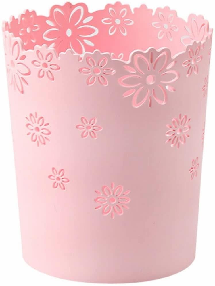 corbeille à papier rose