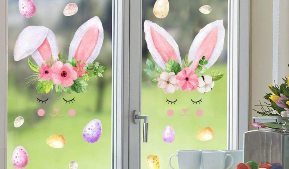 autocollants de Pâques pour fenêtre