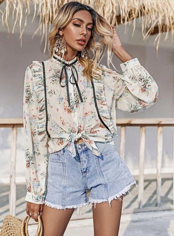 blouse imprimé floral femme