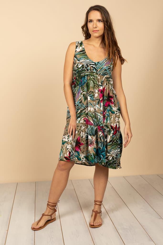sélection de robes incontournables pour l'été : robe motif exotique