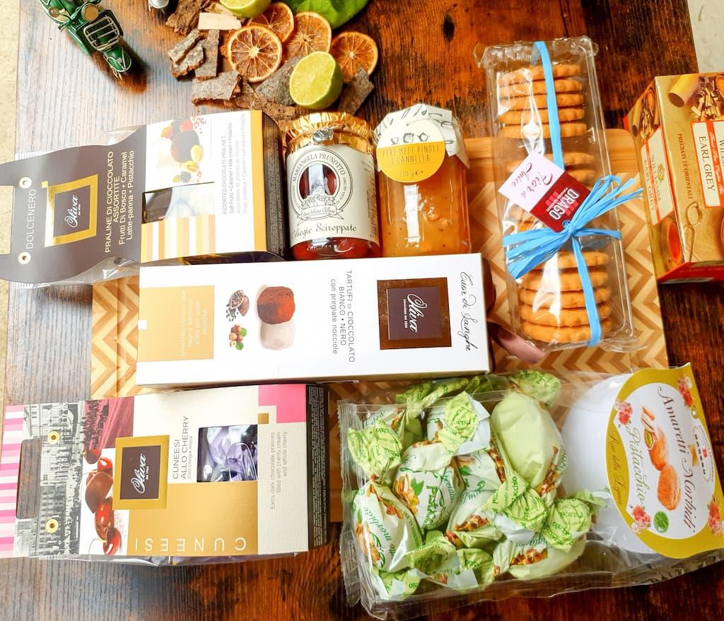 sélection de gourmandises à l'italienne