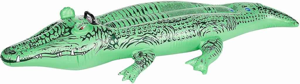 matelas gonflable en forme de crocodile