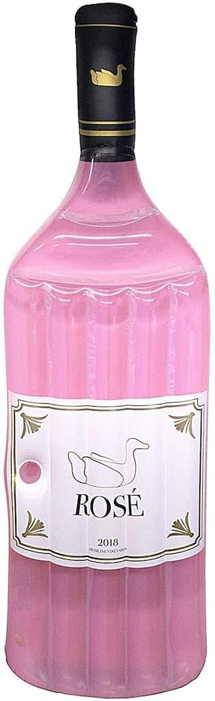 bouteille de rosé gonflable