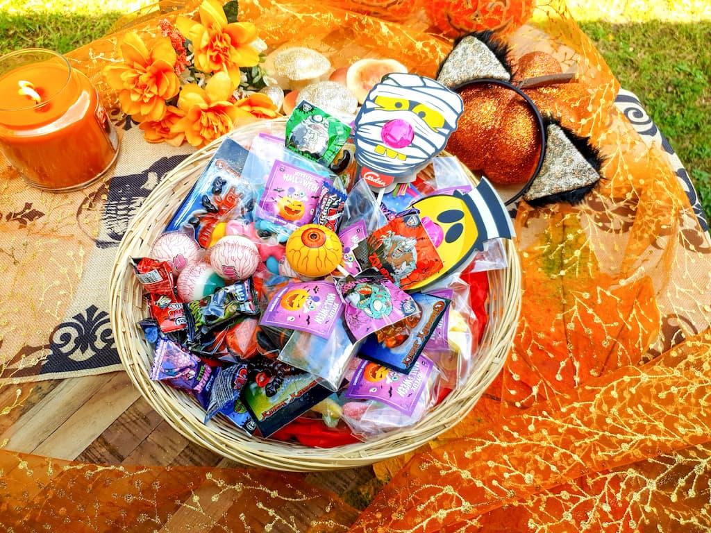 maxi panier de bonbons d'Halloween